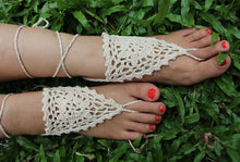 Load image into Gallery viewer, Handmade cotton thread flower anklet bracelet - 2