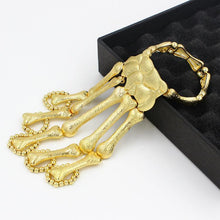 Load image into Gallery viewer, Exaggerated Metal Skeleton Skull Bracelet Ghost Claw with Finger Cuffs Halloween Accessories