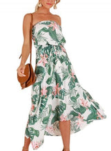 Load image into Gallery viewer, Print Off Shoulder Beach Maxi Dress