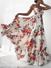 Load image into Gallery viewer, Flower Backless Bohemia Maxi Long Dress