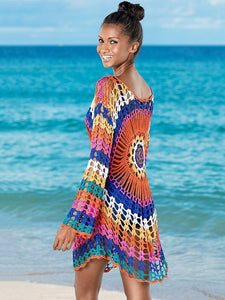 Colorful Knit Swimwear Beach Bikini Cover Up