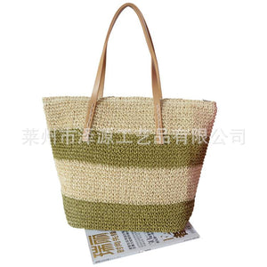 Women's Straw Bag Holiday Shoulder Woven Bag Beach Bag