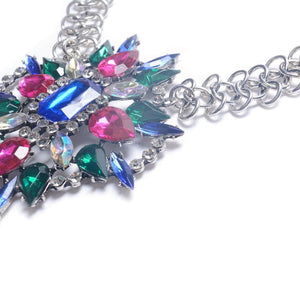 Colorful Alloy Gemstone Jewelry Anklet