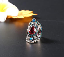 Load image into Gallery viewer, Retro Bohemia Crystal Ruby Gemstone Ring