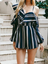Load image into Gallery viewer, 2018 New Stripe High Waist Irregular Jumpsuit Rompers