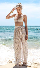Load image into Gallery viewer, Sexy Sequin Side Split High Waist Beach Skirt