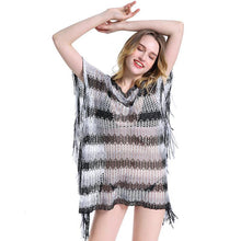 Load image into Gallery viewer, Knit Hollow Tassel Beach Swimwear Bikini Cover Up