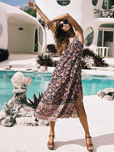 Load image into Gallery viewer, Print Spaghetti Strap Beach Boho Dress
