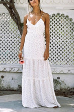 Load image into Gallery viewer, Polka Dot Spaghetti Strap Beach Maxi Dress