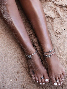 Boho Starfish&Circle Footchain Beach Accessories