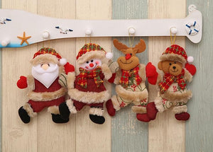 Santa Clause Bear Snowman Elk Doll Hanging Ornaments Tree Decoration