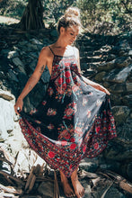 Load image into Gallery viewer, Floral Print Backless Beach Maxi Dress