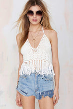 Load image into Gallery viewer, Sexy Halter Knit Tassel Bohemia Beach Tops