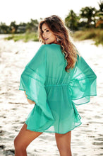 Load image into Gallery viewer, Chiffon V Neck Plus Size Loose Beach Bikini Cover Up