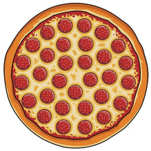 Load image into Gallery viewer, Hot Sale Circular Pizza 3D printing outdoor picnic mats Sun Beach Met
