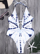 Load image into Gallery viewer, New One-piece Swimsuit White Smudge Temperament Lady Triangle Vacation Swimsuit Bikini