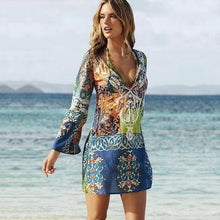 Load image into Gallery viewer, Sexy Chiffon Bikini Cover Up Beach Swimwear Dress Scarf Pareo Sarong Wrap Ladies Summer Dress