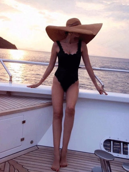Retro Fashion Oversized Straw Hat