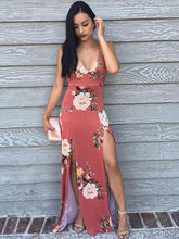 Load image into Gallery viewer, Floral Spaghetti-neck Maxi Dress -2