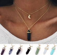 Load image into Gallery viewer, Fashion Crystal Pendant Goldplated Alloy Chain Double Layer Necklace