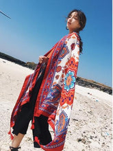 Load image into Gallery viewer, Bohemian Sun Flower Beach Towel Sunscreen Shawl Scarf