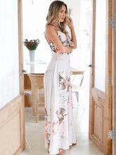 Load image into Gallery viewer, Print Spaghetti Strap Split Maxi Dress