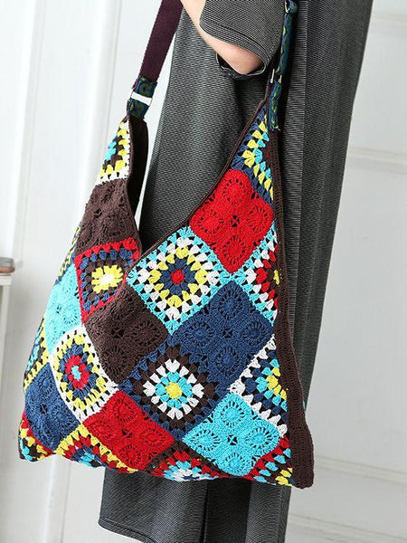 Hand Crocheted Bohemian Seaside Holiday Messenger Bag