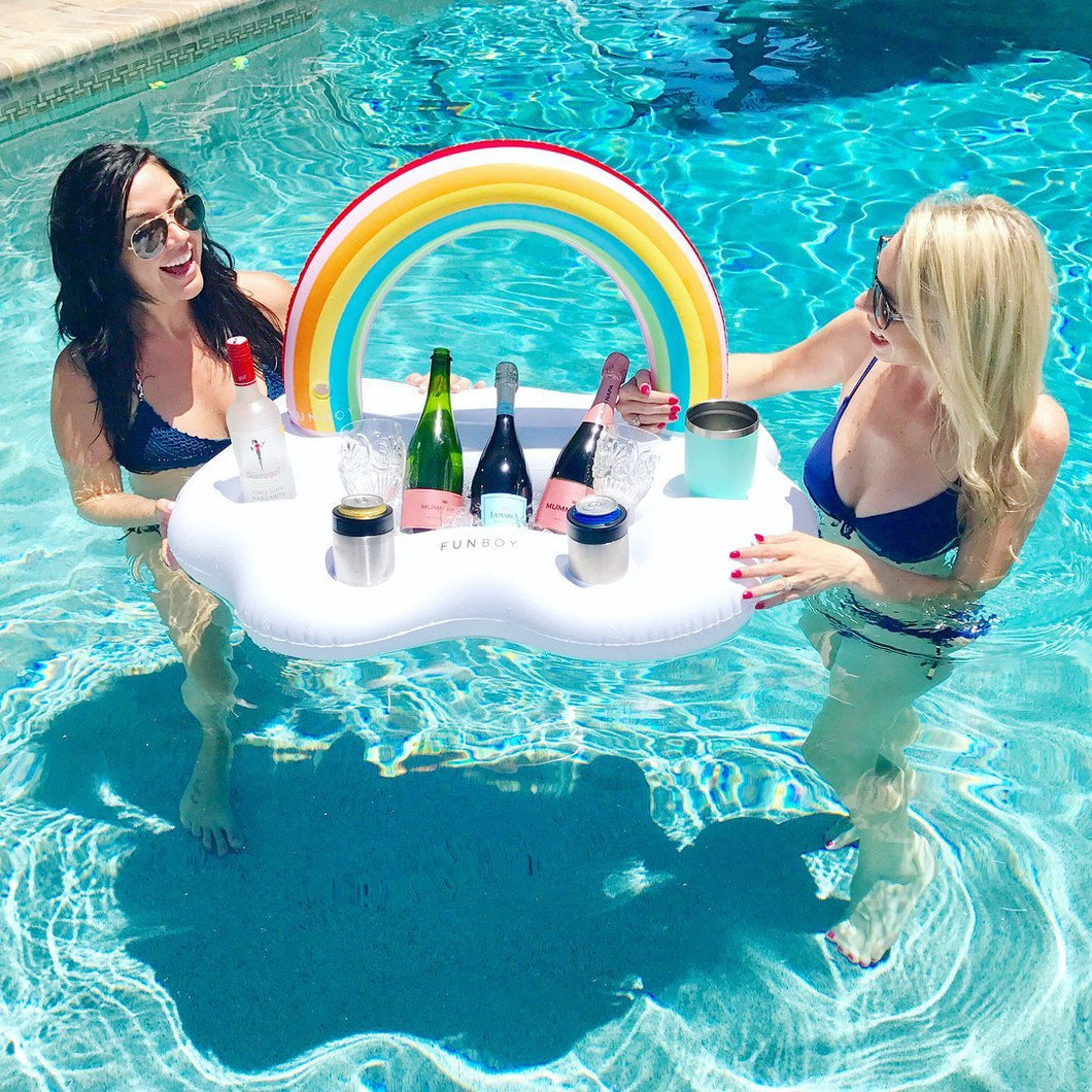 Rainbow Inflatable Floating Wine Serve Swimming Toy