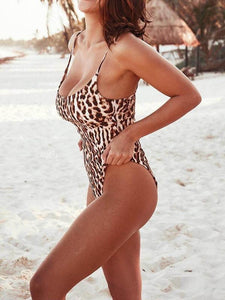 Leopard Sexy Swimsuit Bikini One-piece Swimsuit