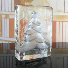 Load image into Gallery viewer, Pinetree glass candle holder Xmas   Christmas