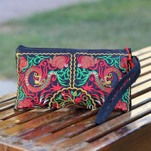 Load image into Gallery viewer, Ethnic Style Tassel Floral Double-Sided Embroidery Portable Bags