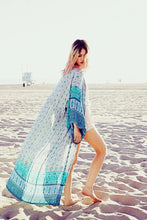 Load image into Gallery viewer, Chiffon Floral Loose Plus Size Beach Long Cover-up