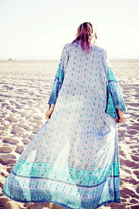 Chiffon Floral Loose Plus Size Beach Long Cover-up