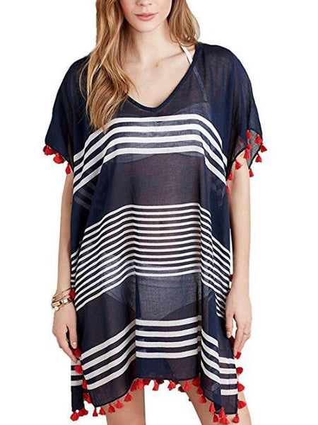 Women Beachwear Beach Wear Cover Up Tassel