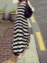 Load image into Gallery viewer, Sexy Stripe Sleeveless Bohemia Beach Maxi Dress