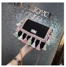 Load image into Gallery viewer, 2018 Tassel Mini Chain Canvas Shoulder Crossbody Bag