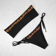 Load image into Gallery viewer, Sexy Tube Top Bikini Women Swimsuit Two-Piece