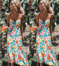 Load image into Gallery viewer, Floral Summer Boho Spaghetti-Strap Long Party Dress