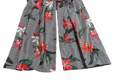 Load image into Gallery viewer, Relax Vacation style Sexy L-back Siamese female print sling piece pants Rompers