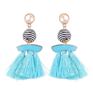 New arrival selectable silk tassel metal beads cap charm for bohemia style Xmas party