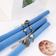 Load image into Gallery viewer, Boho Retro Water Drop Cobblestone Joint Jewelry 6 PCS  Ring Set