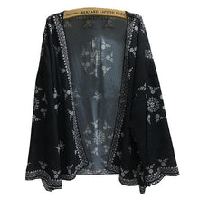 Load image into Gallery viewer, Summer Seaside Blouse Chiffon Cardigan Shawl Printing Coat Female