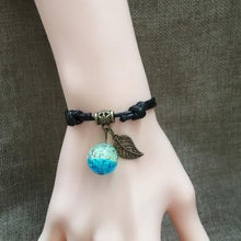 Load image into Gallery viewer, Dreamy Galaxy Starry Sky Romantic Glowing Glass Ball Luminous Couple Bracelet