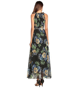 Sexy Printed Sleeveless Bohemia Beach Maxi Dress