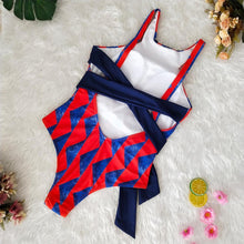 Load image into Gallery viewer, Printed Straps Women's One-piece Bikini Swimsuit