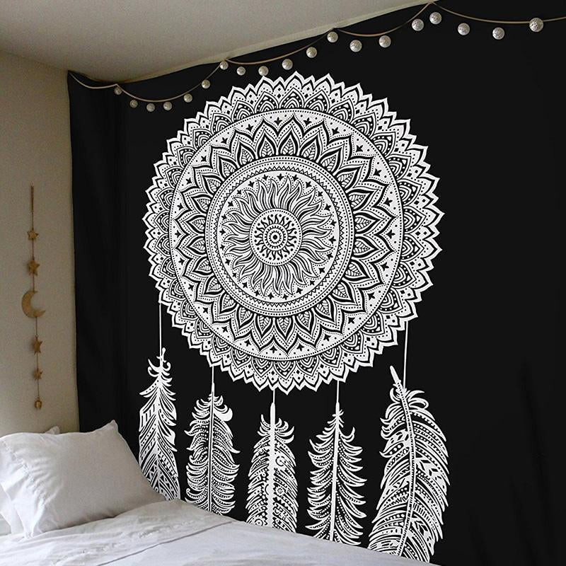 Bohemia Mandala Tribe Style Floral Wall Hanging Tapestry