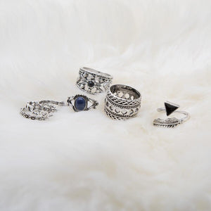 7pcs BOHO ring set bohemia style Retro alloy ring