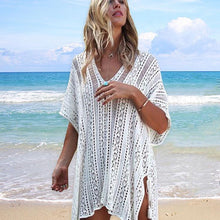 Load image into Gallery viewer, Bikini hollow beach blouse knitted sun protection clothing wholesale