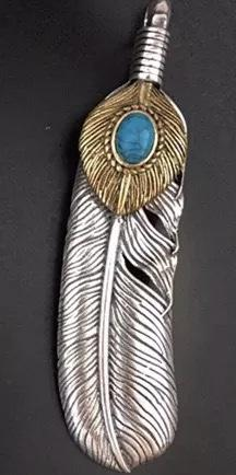 Indian Feather Sun Pendants Sterling Sliver Necklaces Accessories