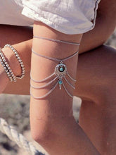 Load image into Gallery viewer, Summer Barefoot chain Beach Anklets Hollow Out Water Droplet Shape Multi-storey Foot Fashion Jewelry